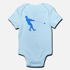 Blue Hammer Throw Silhouette Body Suit
