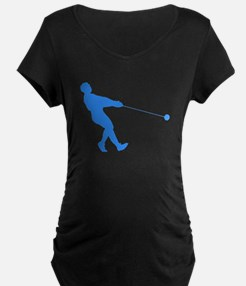 Blue Hammer Throw Silhouette Maternity T-Shirt