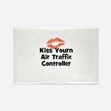 Kiss Yourn Air Traffic Contro Rectangle Magnet