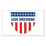 LISA WELTMAN 08 (emblem) Rectangle Sticker