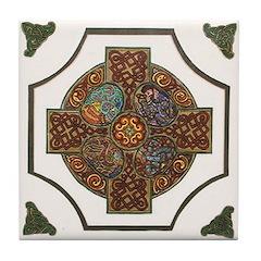 Colorful Celtic Cross Ceramic Tile