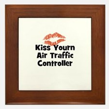 Kiss Yourn Air Traffic Contro Framed Tile