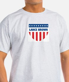 LANCE BROWN 08 (emblem) T-Shirt