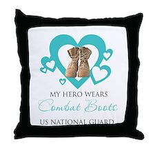 My hero wears combat boots Throw Pillow