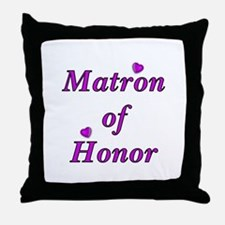 Matron of Honor Simply Love Throw Pillow