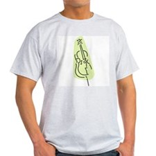 Bass Fiddle Ash Grey T-Shirt (Green)