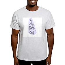 Bass Fiddle Ash Grey T-Shirt (Blue)