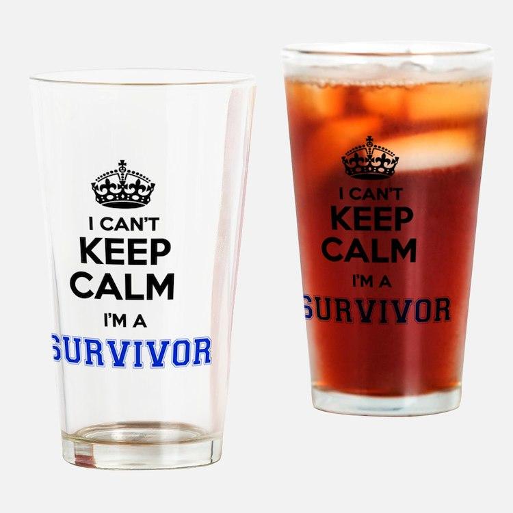 Cute Im survivor Drinking Glass