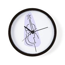 Bass Fiddle Wall Clock (Blue)