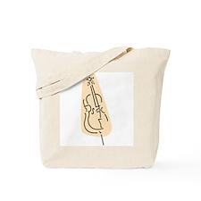 Bass Fiddle Tote Bag (Peach)