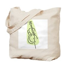 Bass Fiddle Tote Bag (Green)