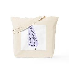 Bass Fiddle Tote Bag (Blue)