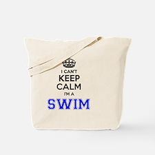 Cute Keep calm and swim on Tote Bag