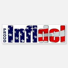 Proud Infidel Bumper Car Car Sticker