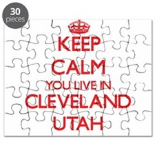 Keep calm you live in Cleveland Utah Puzzle