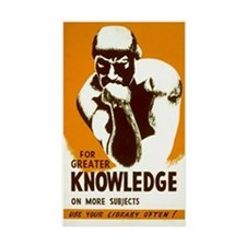 LIBRARY KNOWLEDGE vinyl sticker