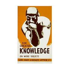 LIBRARY KNOWLEDGE vinyl sticker
