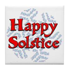 Happy Solstice Tile Coaster
