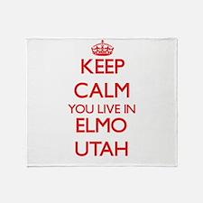 Keep calm you live in Elmo Utah Throw Blanket