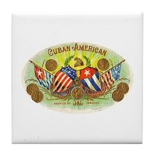 Cuban-American Cigars Tile Coaster