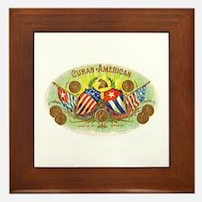 Cuban-American Cigars Framed Tile