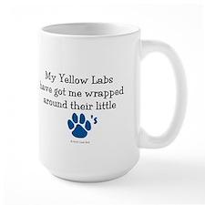 Wrapped Around Their Paws (Yellow Lab) Mug