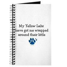 Wrapped Around Their Paws (Yellow Lab) Journal