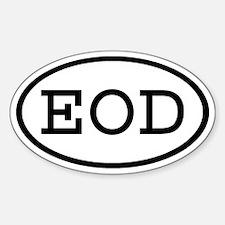 EOD Oval Oval Decal