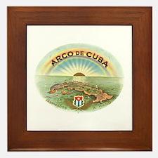Arco de Cuba Cigar Framed Tile