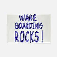 Wake Boarding Rocks ! Rectangle Magnet (10 pack)