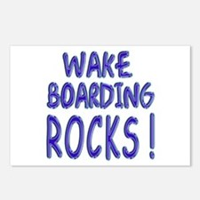 Wake Boarding Rocks ! Postcards (Package of 8)