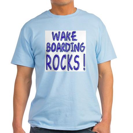 Wake Boarding Rocks ! Light T-Shirt