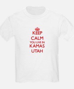 Keep calm you live in Kamas Utah T-Shirt