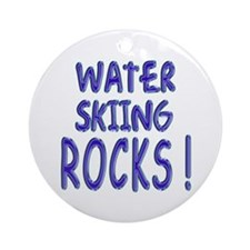 Water Skiing Rocks ! Ornament (Round)