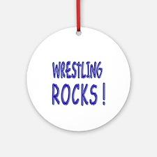 Wrestling Rocks ! Ornament (Round)
