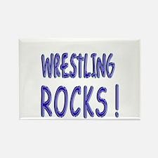 Wrestling Rocks ! Rectangle Magnet (10 pack)