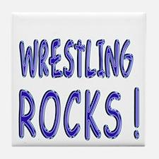 Wrestling Rocks ! Tile Coaster
