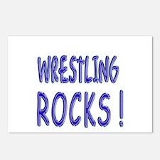 Wrestling Rocks ! Postcards (Package of 8)