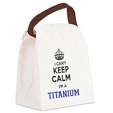 Unique Titanium Canvas Lunch Bag