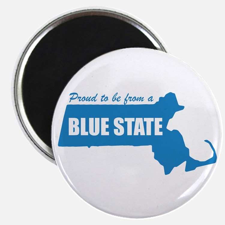 Blue State Massachusetts MA Magnet