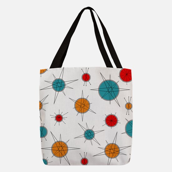 Atomic Era Planets Polyester Tote Bag