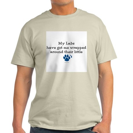 Wrapped Around Their Paws (Lab) Light T-Shirt