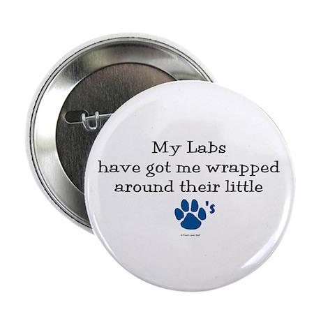Wrapped Around Their Paws (Lab) Button