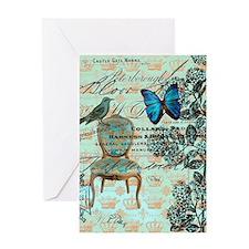 Vintage floral paris Greeting Cards