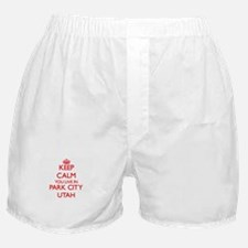 Keep calm you live in Park City Utah Boxer Shorts