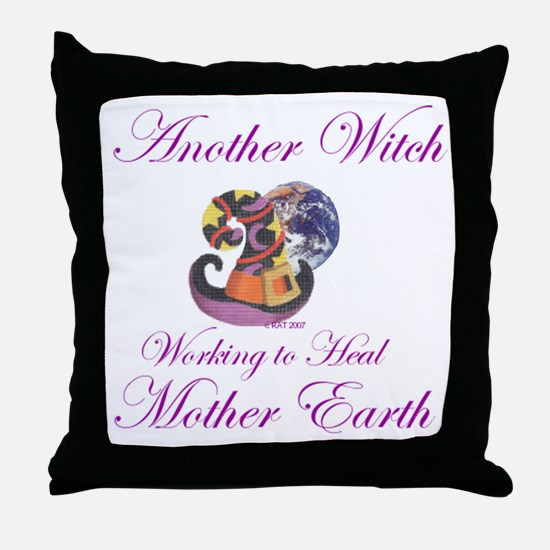 Working 4 Mother Earth Throw Pillow