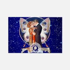 Monogram Q Art Deco Starlight Love Magnets