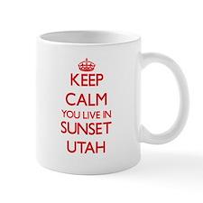 Keep calm you live in Sunset Utah Mugs