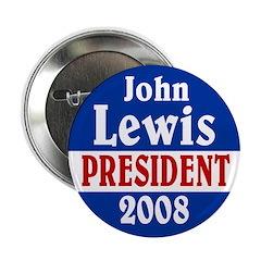 John Lewis President 2008 Button