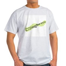 Clarinet Ash Grey T-Shirt (Green)
